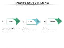 Investment Banking Data Analytics Ppt Powerpoint Presentation Model Graphics Cpb