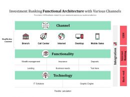Investment Banking Functional Architecture With Various Channels