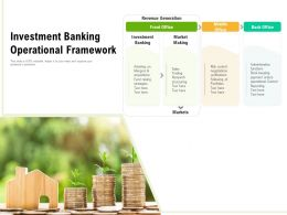 Investment Banking Operational Framework