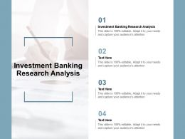 Investment Banking Research Analysis Ppt Powerpoint Presentation Templates Cpb