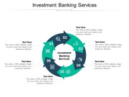 Investment Banking Services Ppt Powerpoint Presentation Infographic Template Master Slide Cpb