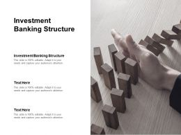 Investment Banking Structure Ppt Powerpoint Presentation Graphics Cpb