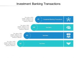 Investment Banking Transactions Ppt Powerpoint Presentation Slides Images Cpb