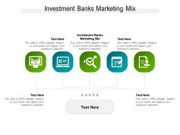 Investment Banks Marketing Mix Ppt Powerpoint Presentation File Brochure Cpb