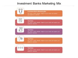 Investment Banks Marketing Mix Ppt Powerpoint Presentation Ideas Outline Cpb