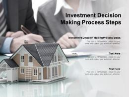 Investment Decision Making Process Steps Ppt Powerpoint Presentation Show Summary Cpb