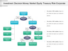 Investment Decision Money Market Equity Treasury Risk Corporate