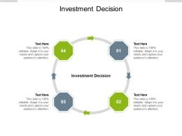 Investment Decision Ppt Powerpoint Presentation Layouts Background Designs Cpb