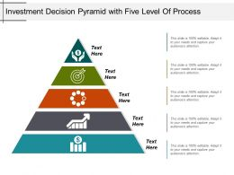 Investment Decision Pyramid With Five Level Of Process