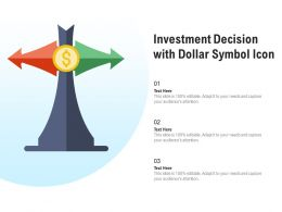 Investment Decision With Dollar Symbol Icon