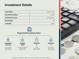 Investment Details Allocation Ppt Powerpoint Presentation Summary File Formats