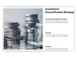Investment Diversification Strategy Ppt Powerpoint Presentation Summary Show Cpb