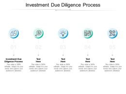 Investment Due Diligence Process Ppt Powerpoint Presentation Summary Brochure Cpb