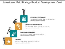 Investment Exit Strategy Product Development Cost Succession Leadership Cpb