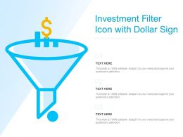 Investment Filter Icon With Dollar Sign