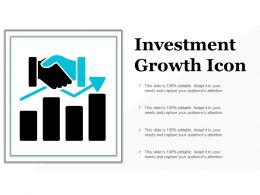 Investment Growth Icon Ppt Examples