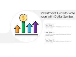 Investment Growth Rate Icon With Dollar Symbol
