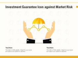 Investment Guarantee Icon Against Market Risk