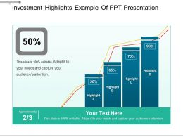 Investment Highlights Example Of Ppt Presentation