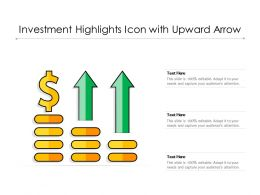 Investment Highlights Icon With Upward Arrow