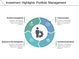 Investment Highlights Portfolio Management 2 Powerpoint Shapes