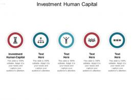 Investment Human Capital Ppt Powerpoint Presentation Styles Slides Cpb