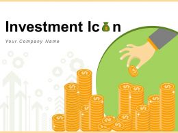 Investment Icon Building Funnel Upward Arrow Sprinklers Coins