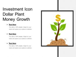 Investment Icon Dollar Plant Money Growth