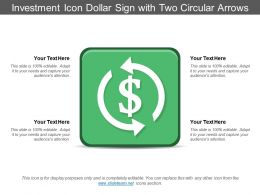 Investment Icon Dollar Sign With Two Circular Arrows