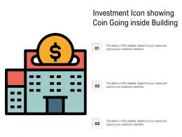 Investment Icon Showing Coin Going Inside Building