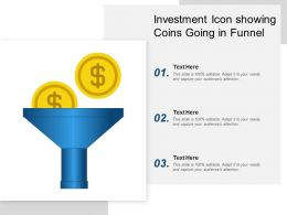 Investment Icon Showing Coins Going In Funnel
