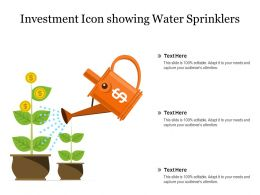 Investment Icon Showing Water Sprinklers