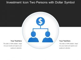 Investment Icon Two Persons With Dollar Symbol