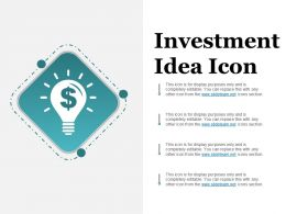 Investment Idea Icon Ppt Design