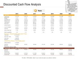 Investment In Land Building Discounted Cash Flow Analysis Ppt Powerpoint Presentation Layout