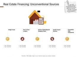 Investment In Land Building Real Estate Financing Unconventional Sources Ppt Powerpoint Presentation Files
