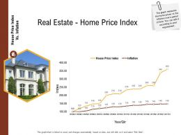 Investment In Land Building Real Estate Home Price Index Ppt Powerpoint Presentation File Example