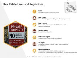 Investment In Land Building Real Estate Laws And Regulations Ppt Powerpoint Presentation Icons