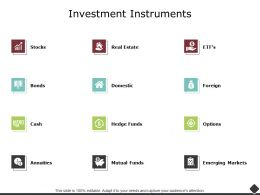 Investment Instruments Mutual Funds Ppt Powerpoint Presentation Model Elements