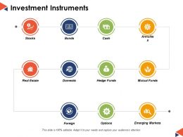 Investment Instruments Ppt Powerpoint Presentation File Gallery