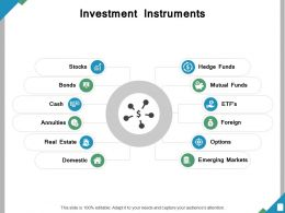 Investment Instruments Ppt Powerpoint Presentation File Show