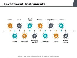 Investment Instruments Ppt Powerpoint Presentation Show
