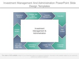 Investment Management And Administration Powerpoint Slide Design Templates