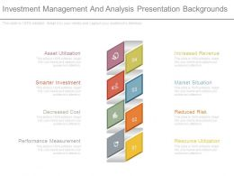 Investment Management And Analysis Presentation Backgrounds