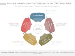 Investment Management And Portfolio Analysis Sample Of Ppt Presentation