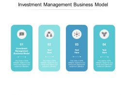 Investment Management Business Model Ppt Powerpoint Presentation Icon Grid Cpb