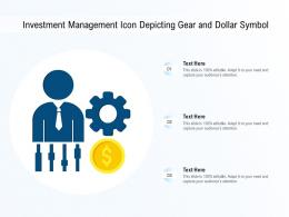 Investment Management Icon Depicting Gear And Dollar Symbol