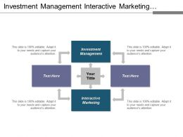 Investment Management Interactive Marketing Cross Channel Advertising Internet Marketing Cpb
