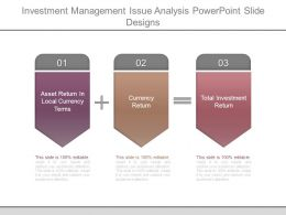 Investment Management Issue Analysis Powerpoint Slide Designs
