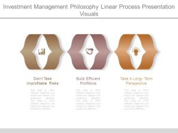 Investment Management Philosophy Linear Process Presentation Visuals